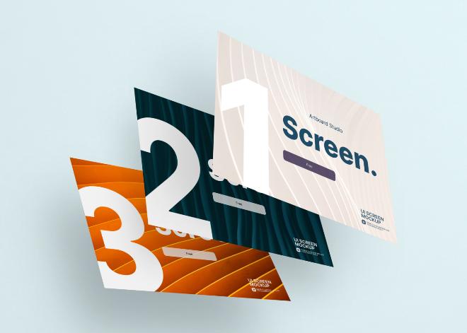 Screen Frames Mockup Template