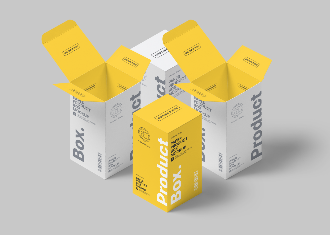 Product Box Mockup Template