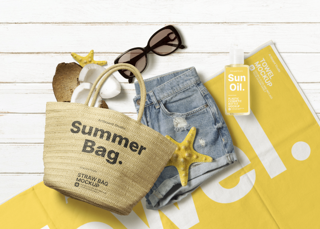 Summer Related Apparel Mockup Template