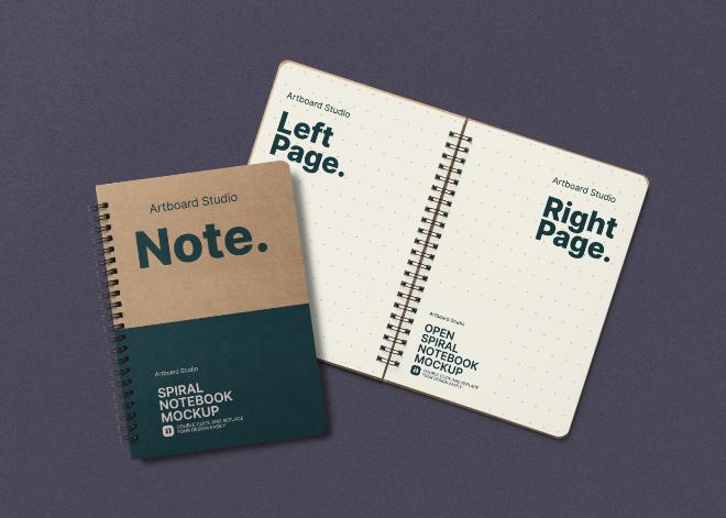 Spiral Notebook Mockup Template