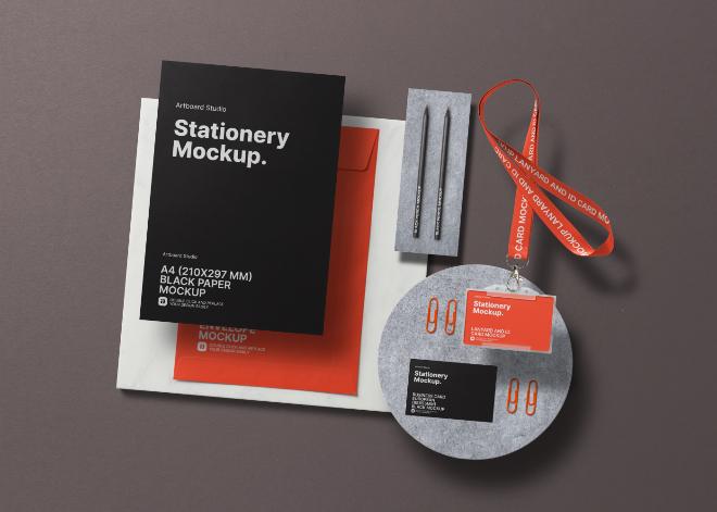 Identity Branding Stationery Mockup Template