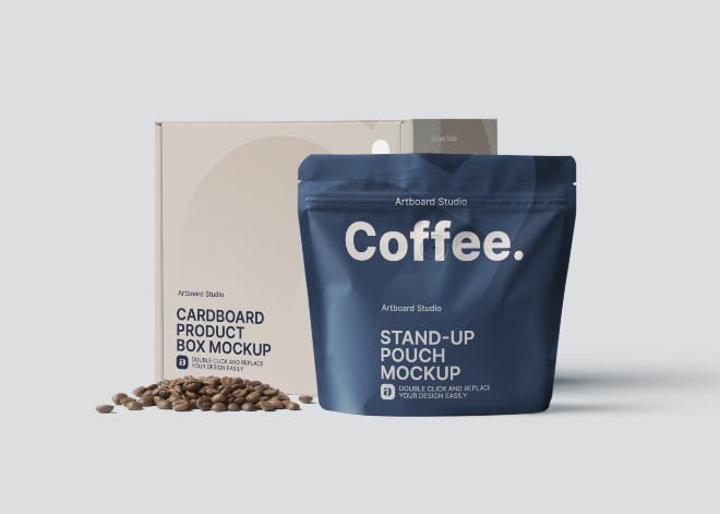 Coffee Delivery Package Mockup Template