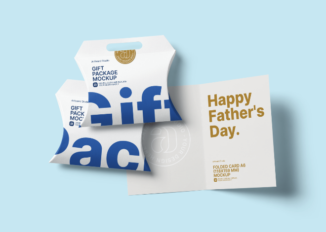 Father's Day Gift Package Mockup Template
