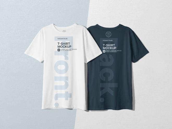 Front Back T-shirt Mockup Template