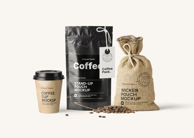 Premium Coffee Packaging Mockup Template