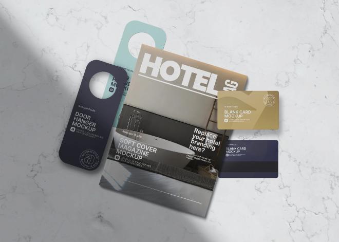 Hotel Print Materials Mockup Template