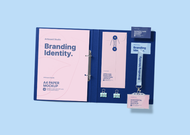 Brand Identity Design Mockup Template