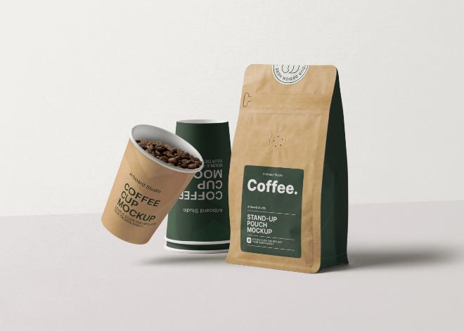 Matte Coffee Bag Mockup Template