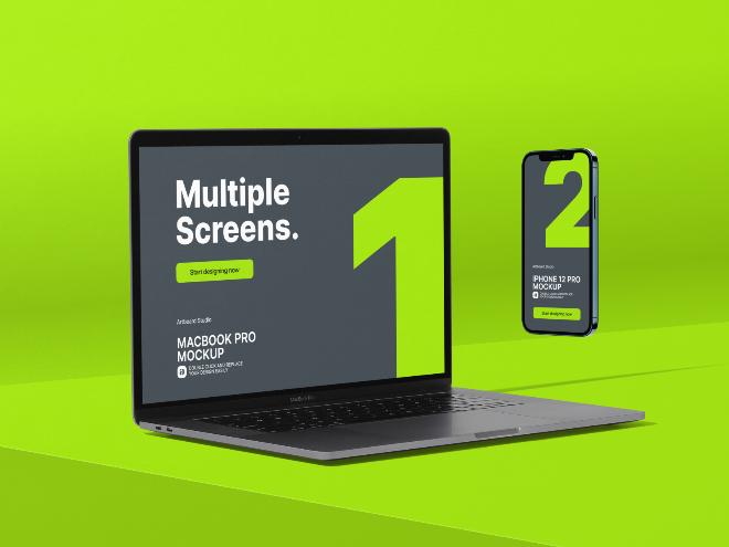 Multi-Device Website Mockup Template