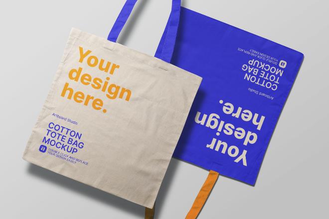 Free Canvas Tote Bag Mockup Template