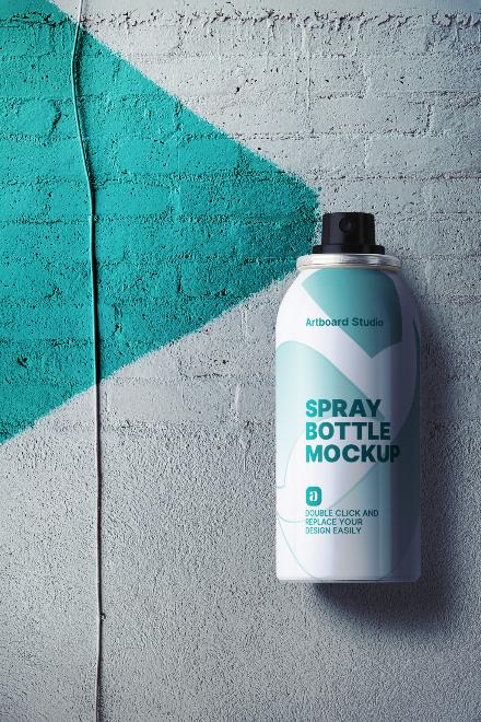 Spray Bottle Mockup Scene