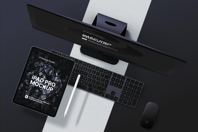 iMac Pro & iPad Pro Mockup Scene