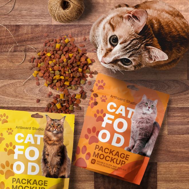 Pet Food Package Mockup Scene