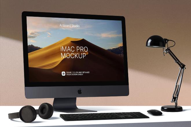 iMac Pro Mockup Scene