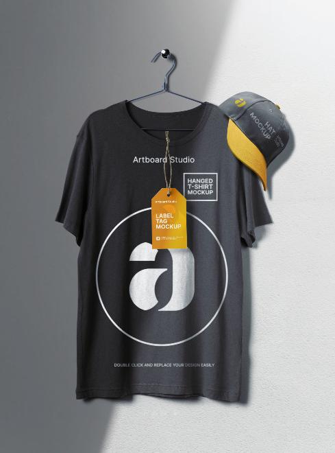 T-Shirt&Hat Mockup Scene