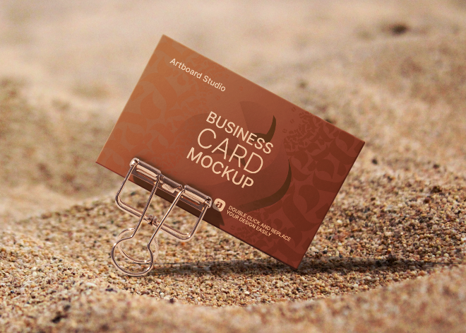 Business Card Mockup Template