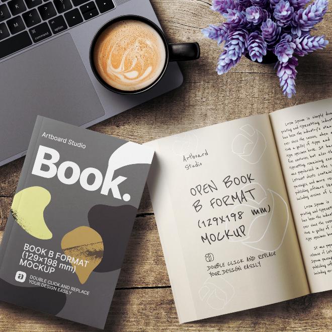 Book&Open Book Mockup Template