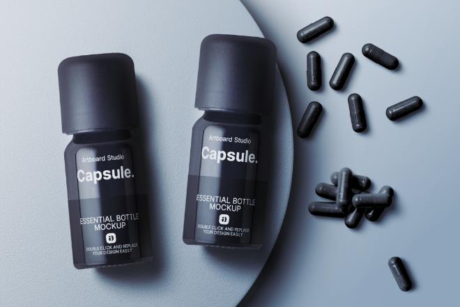 Capsule Essential Bottle Mockup Template