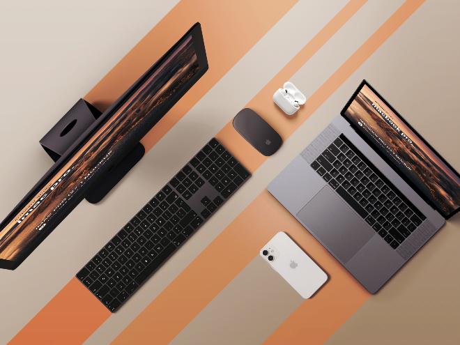 iMac Pro&Macbook Pro Mockup Template