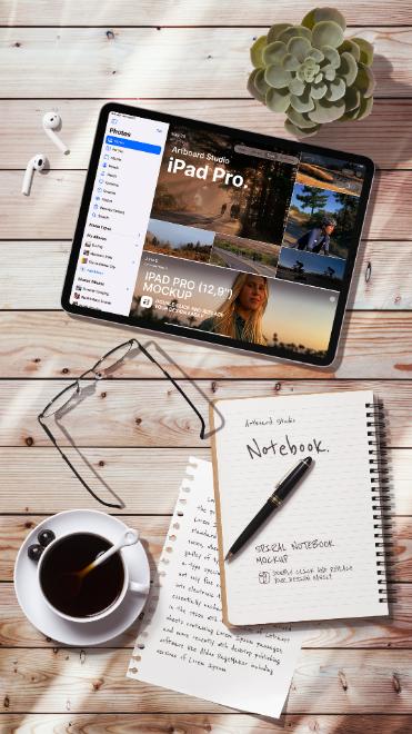 iPad Pro&Notebook Mockup Template