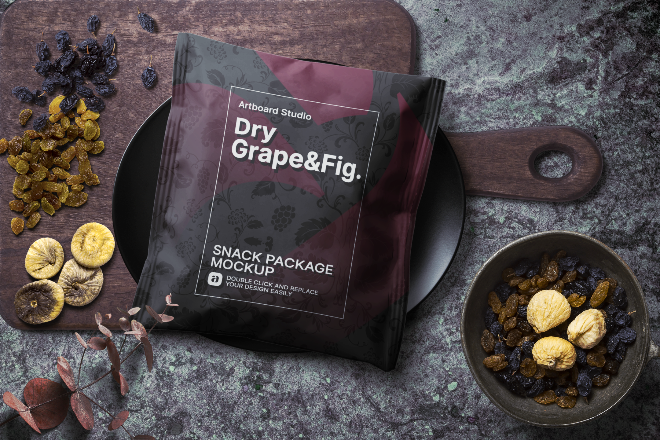 Snack Package Mockup Template