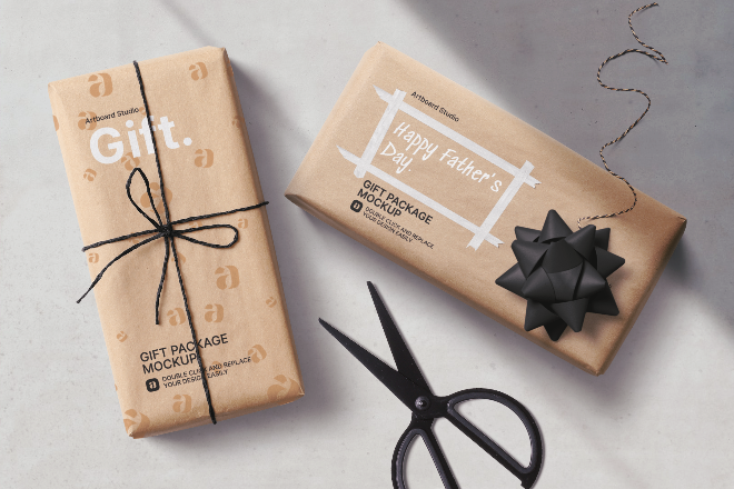 Father's Day Gift Packages Template