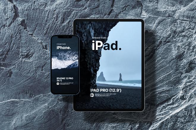 iPad & iPhone Mockup Template
