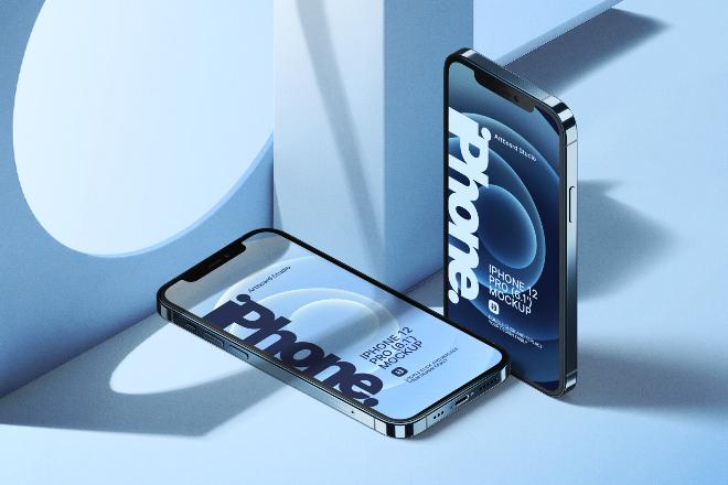 iPhone 12 Pro Mockup Template