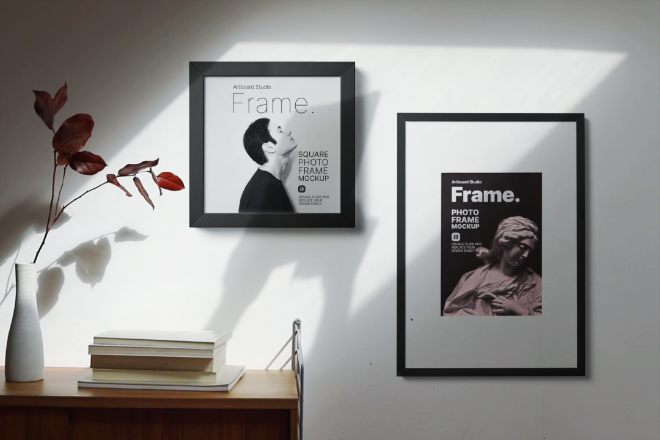 Animated Photo Frames Mockup Template